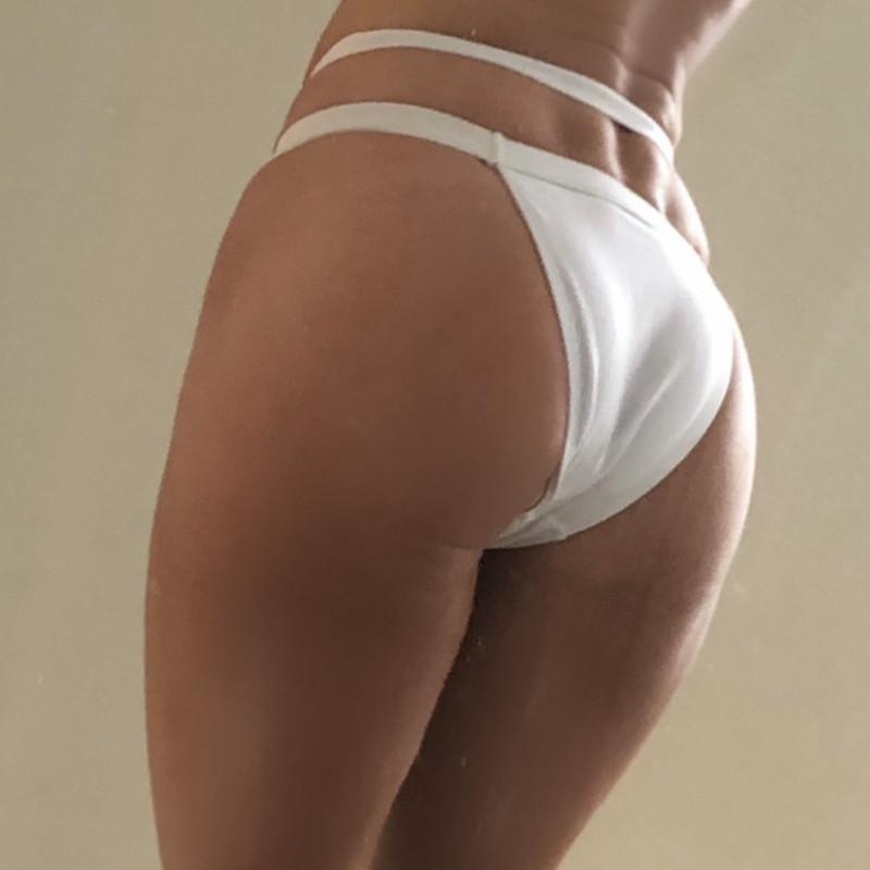 Ruffle string bikini
