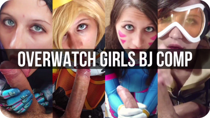 """""""Amber Sonata"""" (Blowjob, Body Painting, Cosplay, Costume, Wigs) Overwatch Girls BJ Cosplay Compilation - ManyVids Production"""