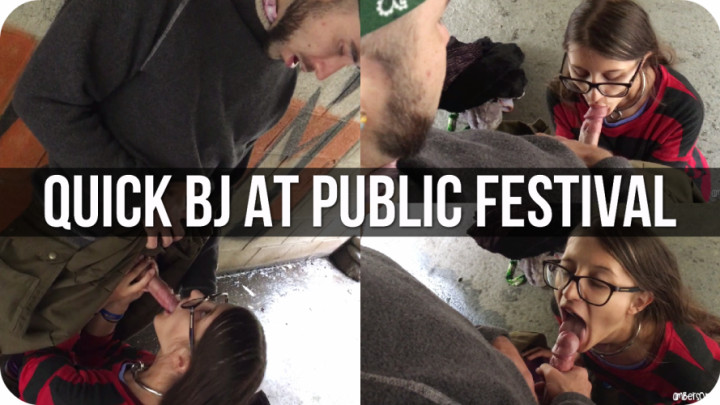 """""""Amber Sonata"""" (Outdoor Public Blowjobs, Public Blowjob, Public Outdoor, Big Dicks, Cum In Mouth) Public Quickie At Camping Festival - ManyVids Production"""