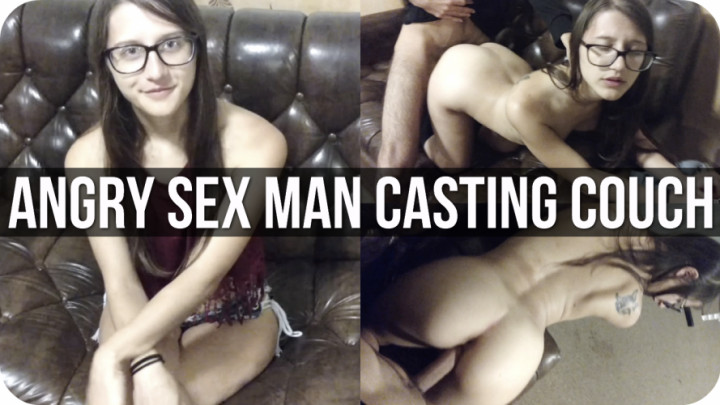 """""""Amber Sonata"""" (Interviews, Interrogation, School Girl, Fucking, Barely Legal) Casting Couch: Angry Sex Man - ManyVids Production"""
