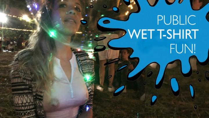 """AnastaxiaLynn"" (Christmas, Public Flashing, Public Nudity, Public Outdoor, Wet T-Shirt) Public Wet T-shirt fun - ManyVids Production"