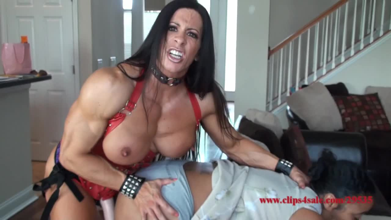 """""""Angela Salvagno"""" (Cuckolding, Strap-On, Muscle Domination, Girl Girl, Female Domination) Cuckold Bitch and His Wife HD - ManyVids Production"""