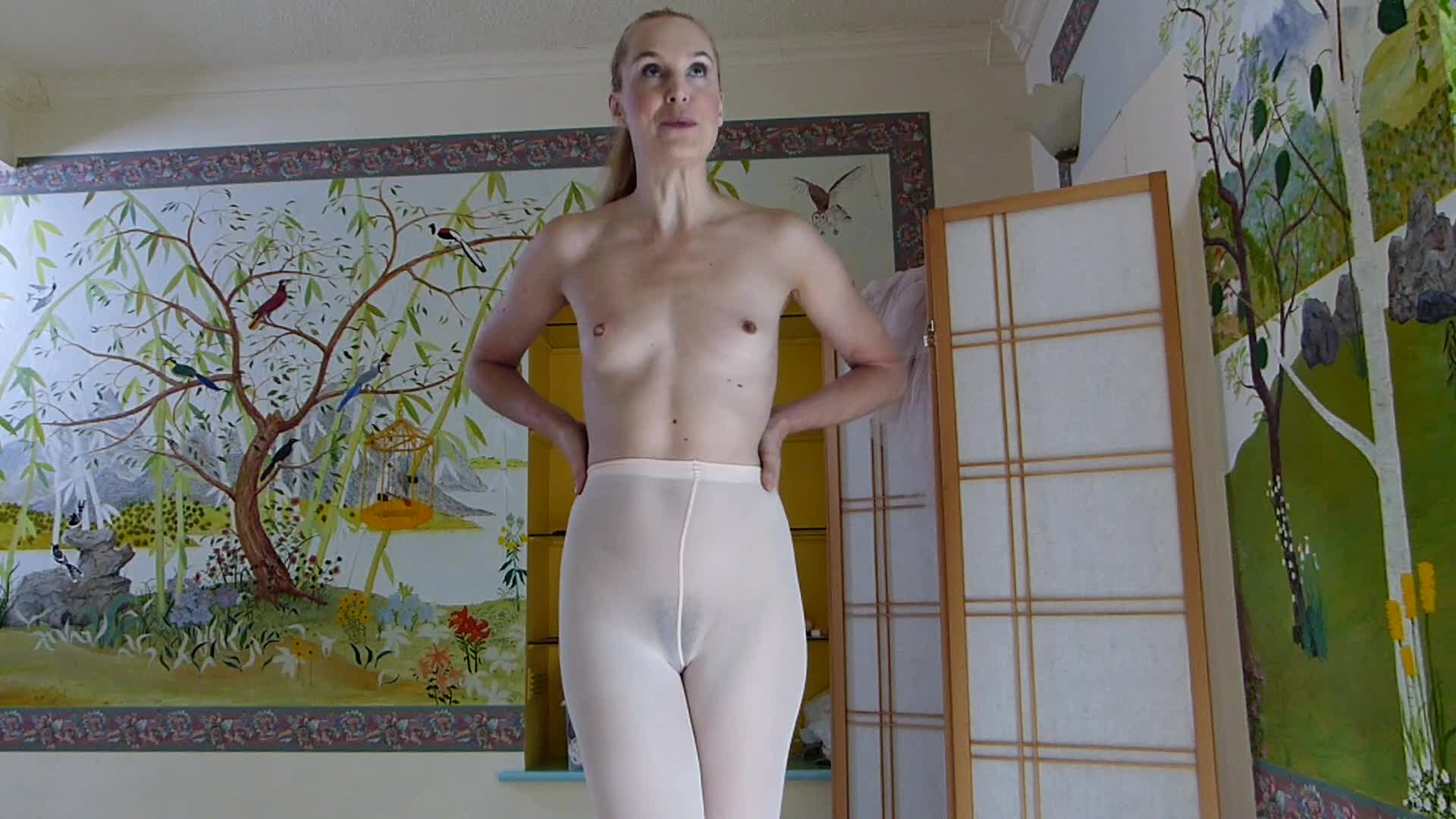 """Ariel Anderssen""  (Pantyhose, Bondage, High Heels, Nipple Play, Corporal Punishment) Uppity Ballerina ManyVids Production"