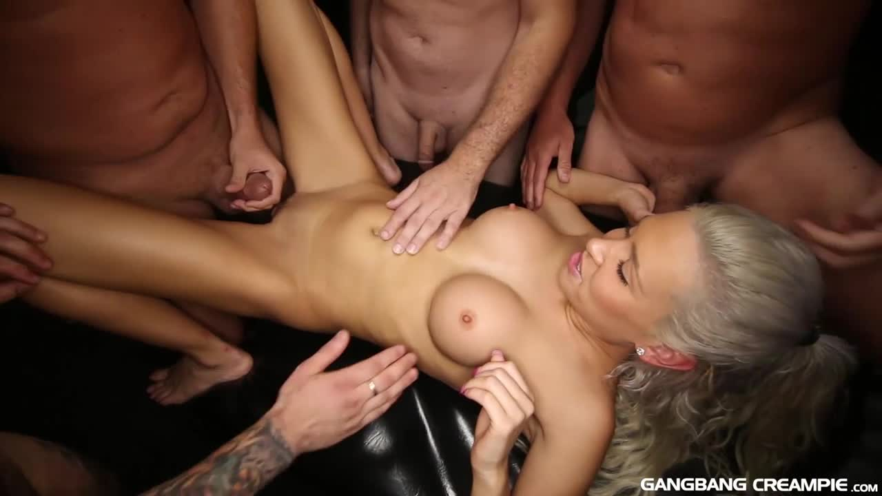 Cum Covered Anal Gangbang
