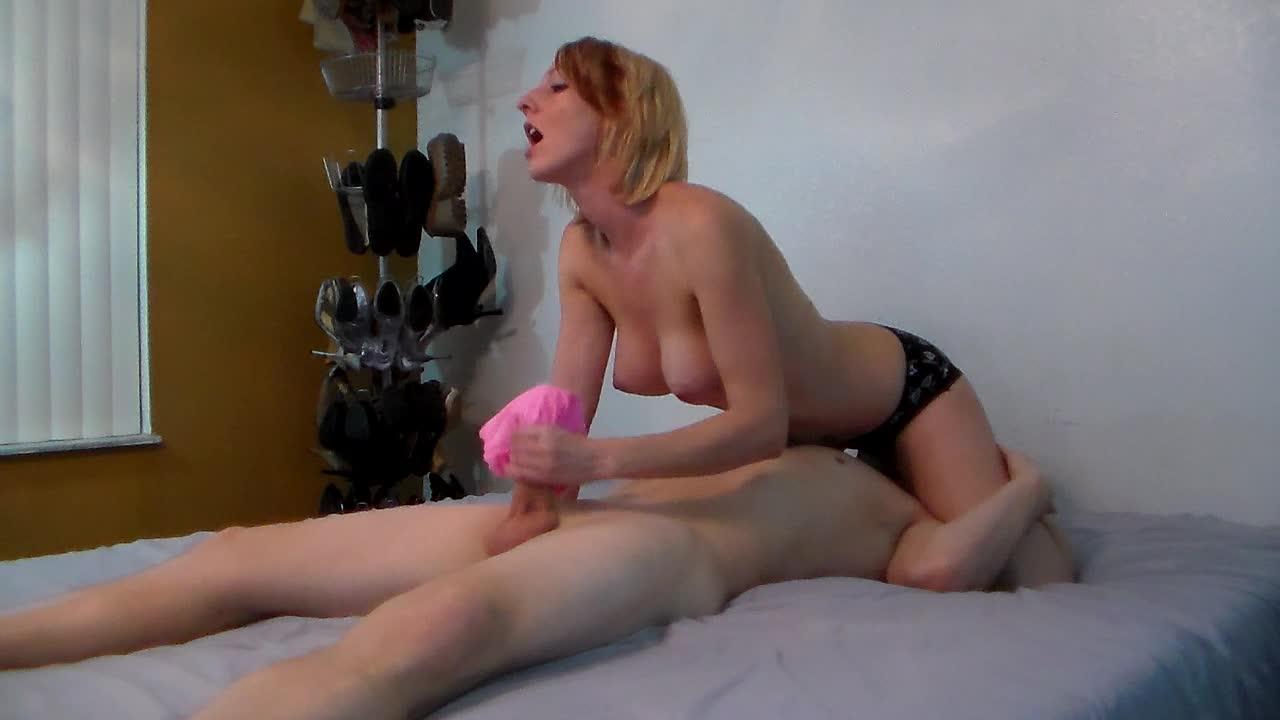 Titty fuck and handjob for my golden dildo 3