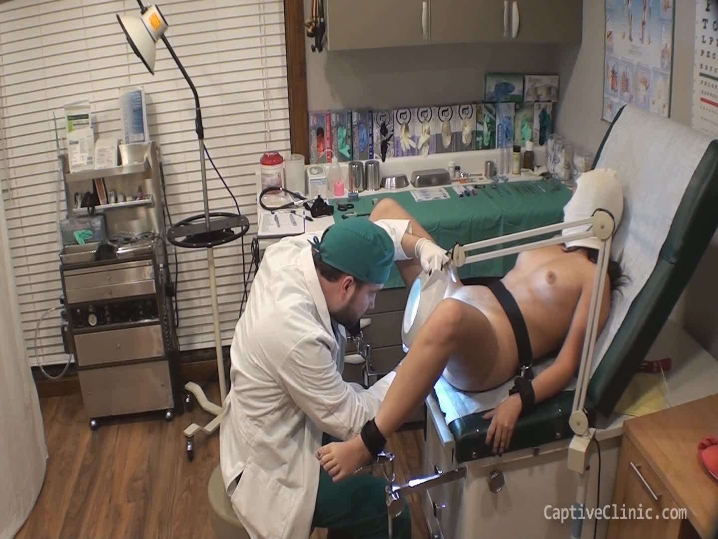 """CaptiveClinic""  (Bondage Restraints, Med Exam, Medical Fetish, 18 & 19 Yrs Old, Latina) Sold For Science~Gabby Lopez~Part2/4 wmv ManyVids Production"