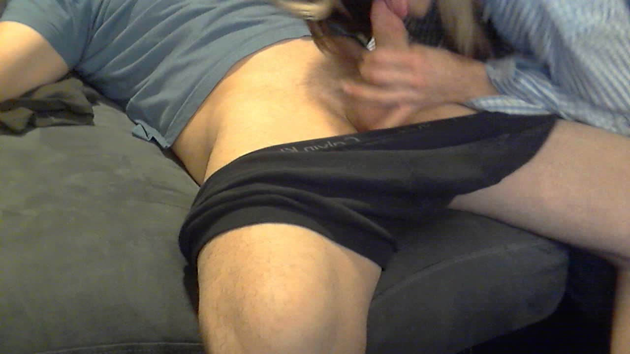 Dirty talking slut sucks cock while talking about hubby
