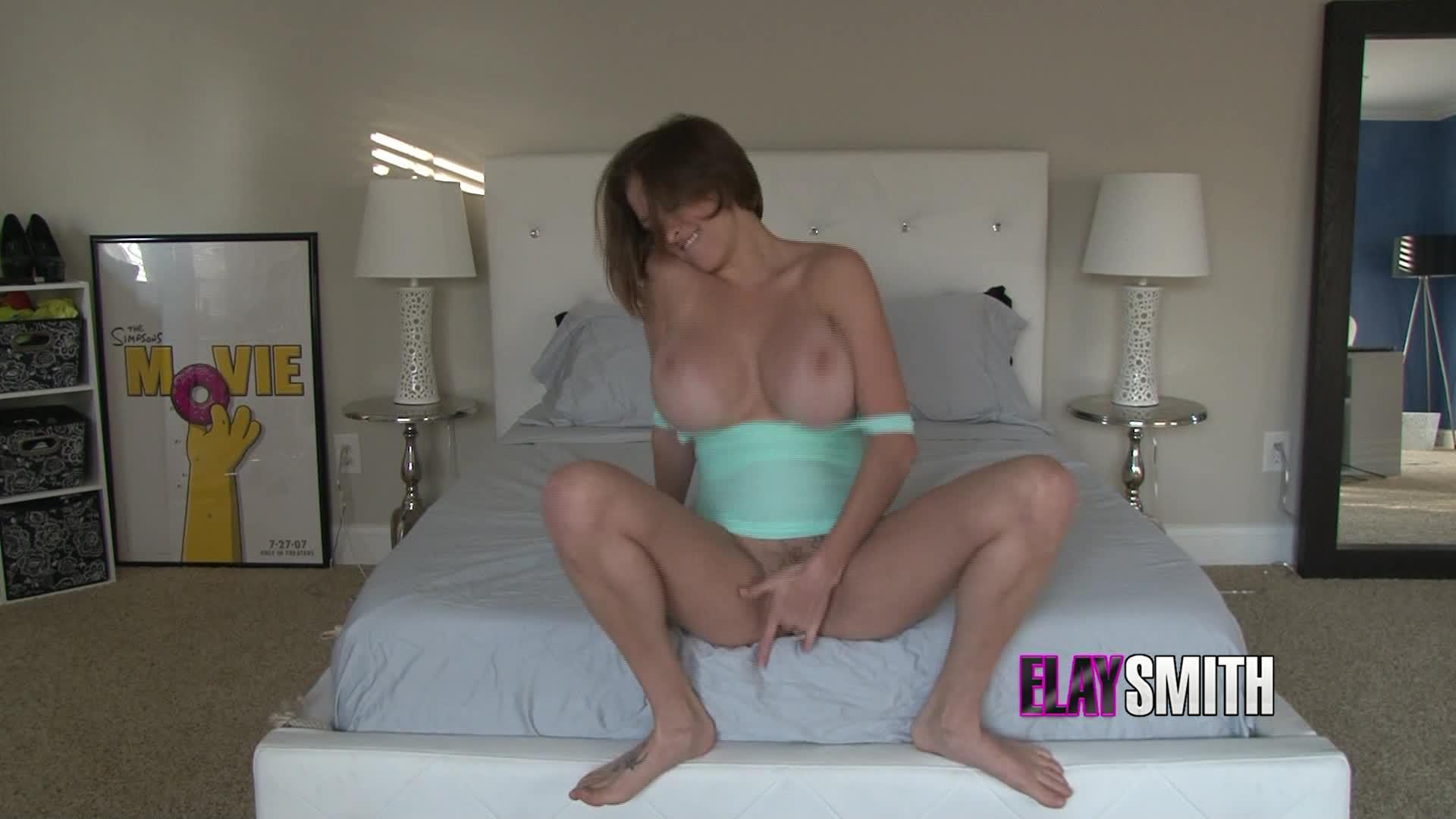 """Elay Smith"" (Squirting, Short Hair, Big Tits, Solo Female, Solo masturbation) Slapping Wet - ManyVids Production"
