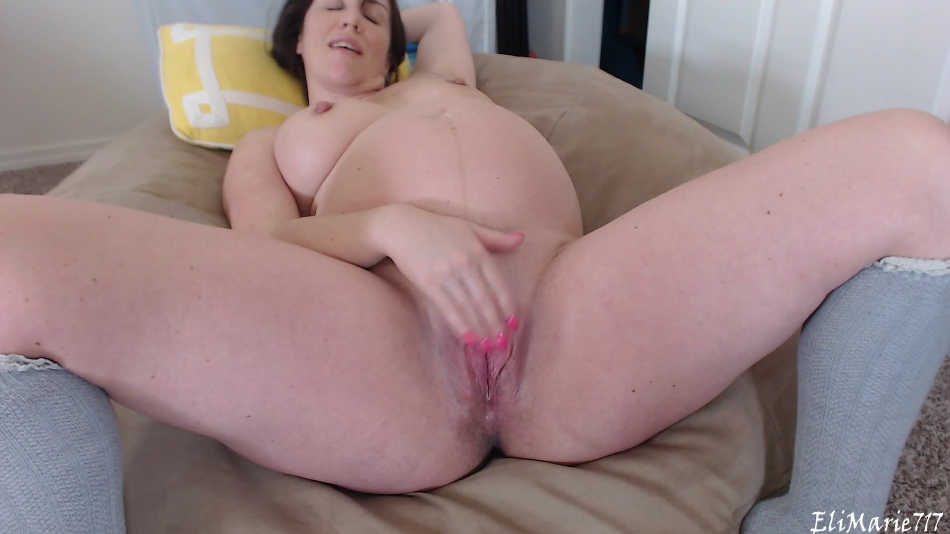"elimarie717"" (ass spreading, masturbation, pregnant, pussy spreading"