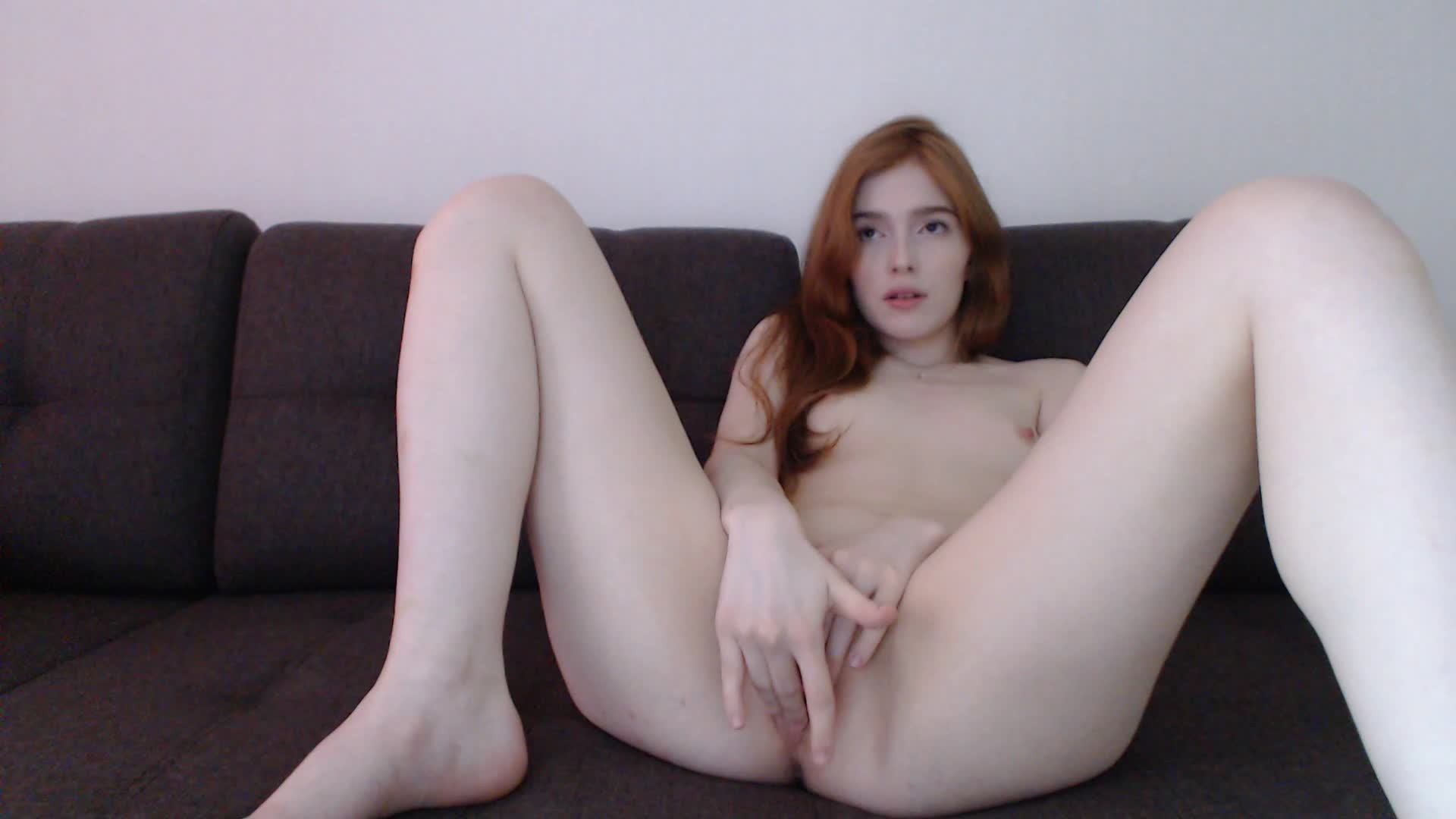 "jia_lissa"" (redhead, fingering, 18 19 yrs old) watching porn and"