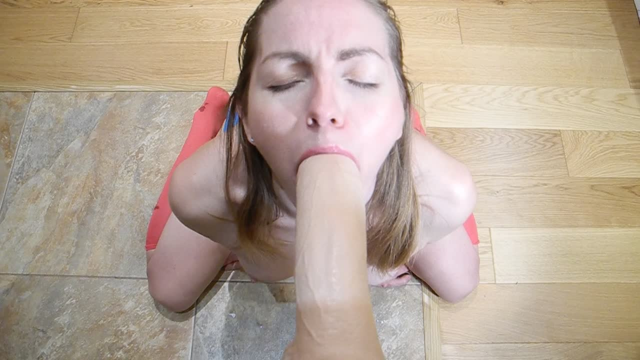 Dirty Talk Dildo Blowjob