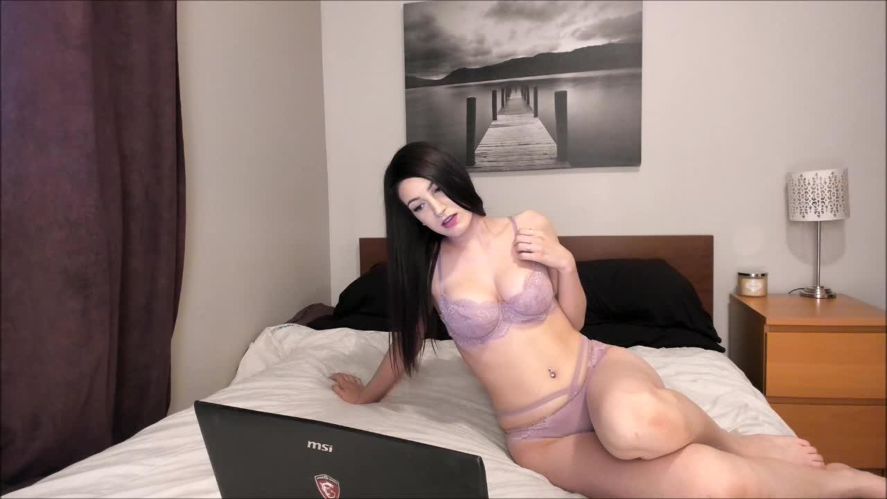 """JustViolet"" (Big Tits, Butt Plug, Fingering, Masturbation, Strip Tease) Violet watches porn - ManyVids Production"