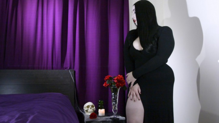 """Kitty_LeRoux"" (Cosplay, Halloween, Jerk Off Instruction, Masturbation, Taboo) Addams Family Tradition - ManyVids Production"