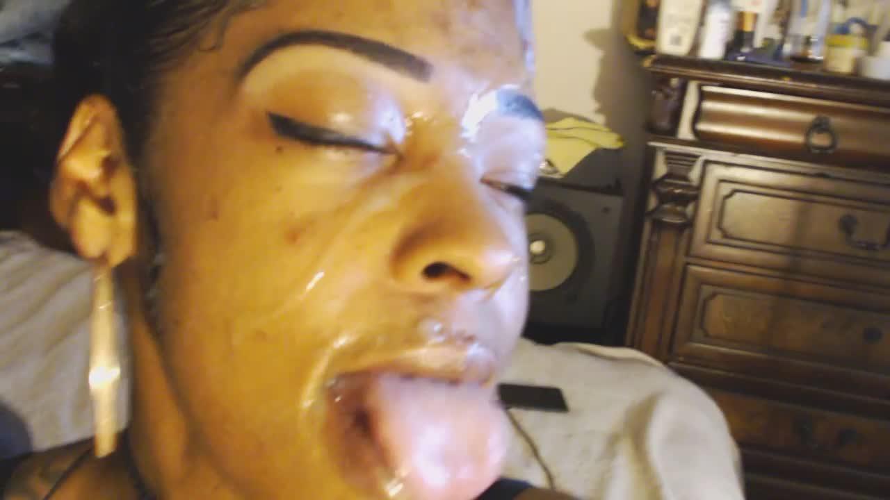 Niarose & her big cocks & facial # 4