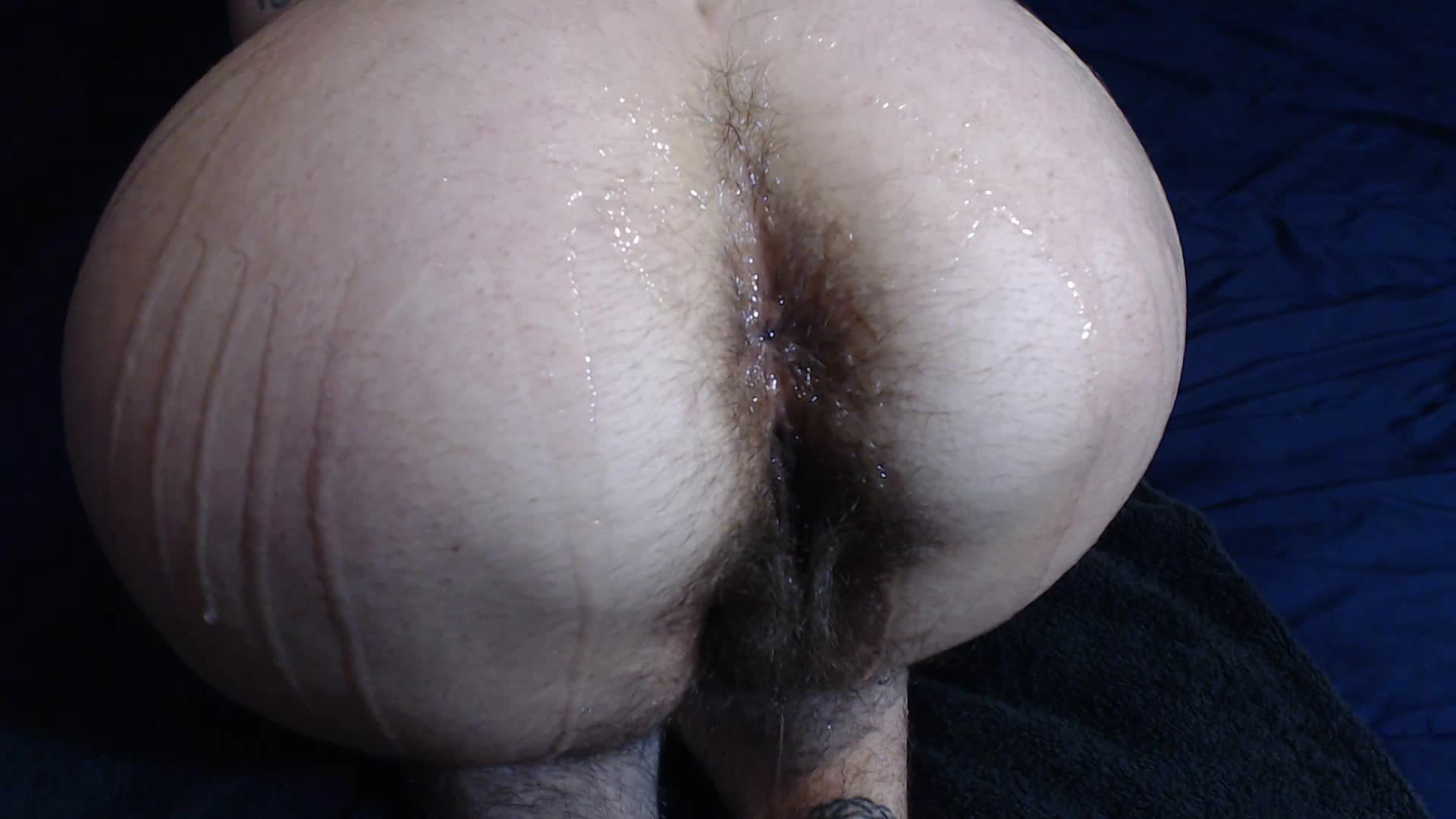 """""""MarleyMagdalene"""" (Ass Spreading, Ass Worship, Hairy, Lotion/Oil Fetish, Oil) Oiled Hairy Ass Worship - ManyVids Production"""