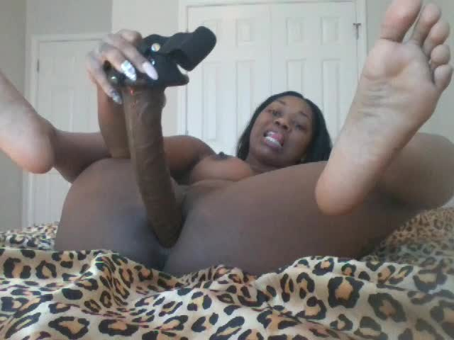 Ebony 18 Year Old Dildo