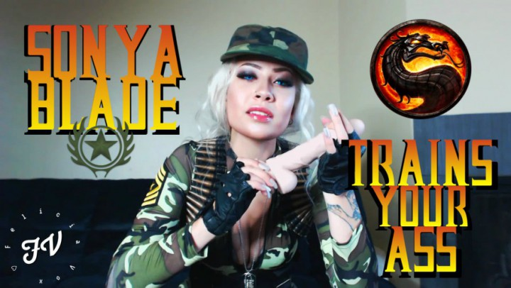 """Felicia Vox"" (CEI, Cosplay, Female Domination, Military, Halloween) Sonya Blade Trains Your Ass - ManyVids Production"