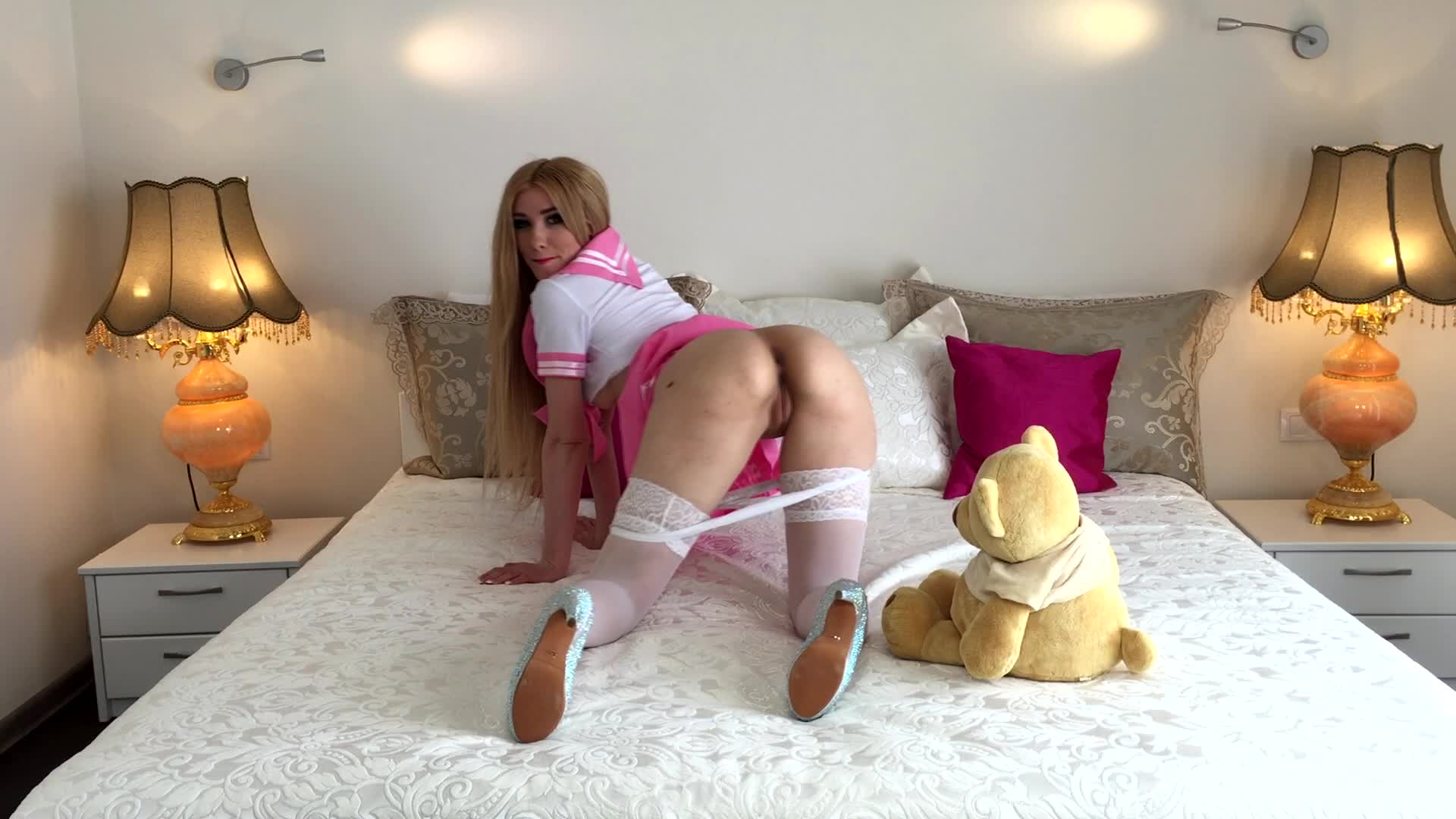 Blonde webcam goddess 17 big squirt on sofa 8