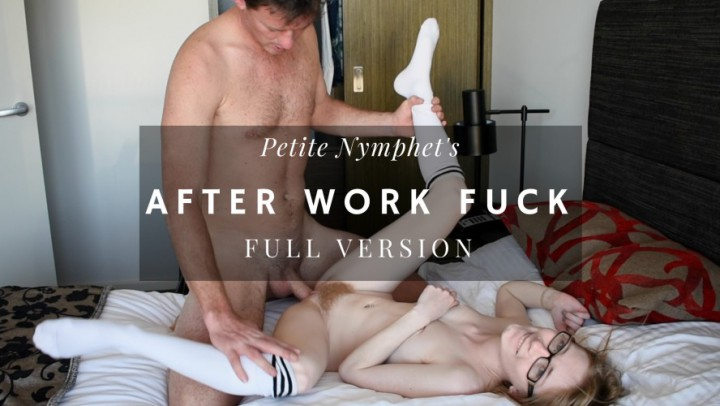 """""""Petite Nymphet"""" (Boy Girl, Doggystyle, Facials, Fucking, Pussy Eating) Full Version: After Work Fuck - ManyVids Production"""