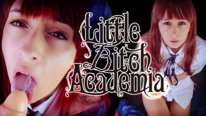 """pitykitty"" (Cosplay, Pussy Gaping, Teacher Fetish, Dildo Fucking, Blowjob) Akko] Little Bitch Academia - ManyVids Production"