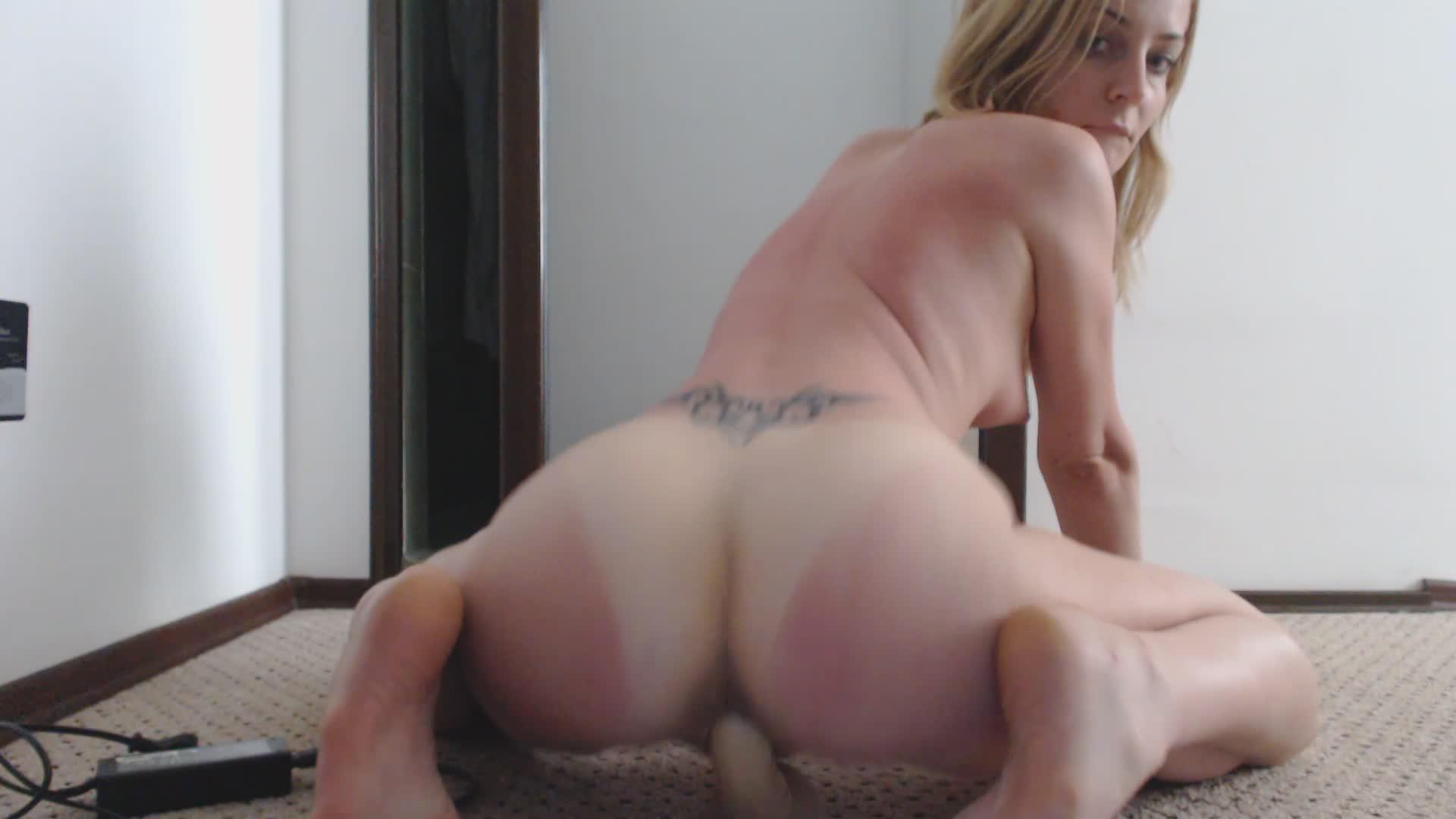 Big Tits Huge Dildo Ride
